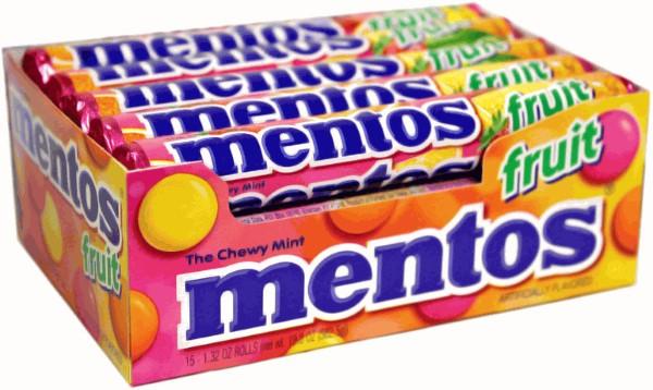 MENTOS MINTS 1.32OZ 15CT *FRUIT*
