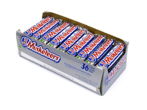 3 MUSKETEERS 1.92OZ 36CT