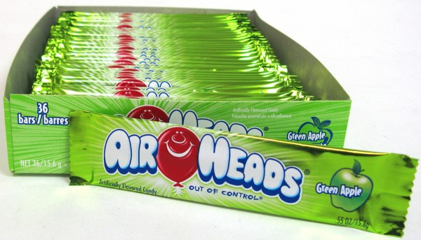 AIR HEADS .55OZ 36CT *GREEN APPLE*