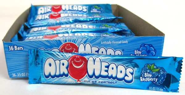 AIR HEADS .55OZ 36CT *BLUE RASPBERRY*