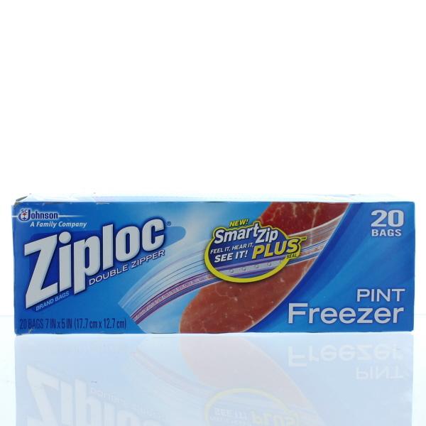 ZIPLOC FREEZER BAGS 20'S *PINT*