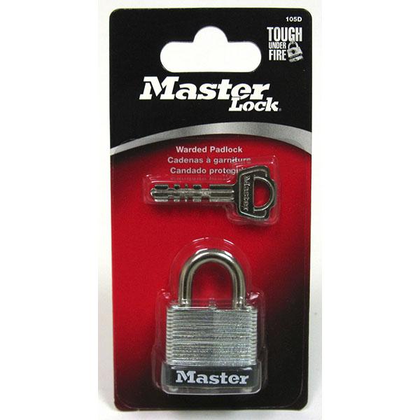 MASTER LOCK WARDED PADLOCK 1-1/8