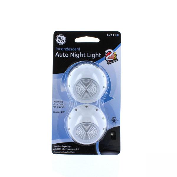 G.E NIGHT LIGHT DIRECTIONAL SPOTLIGHT AUTO 2'S #50311
