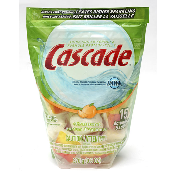 CASCADE DISH DETERGENT 4'S 2.2OZ *PLATINUM*