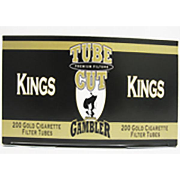 GAMBLER CIG. FILTER TUBES 200'S *TUBE CUT-KING-GOLD*