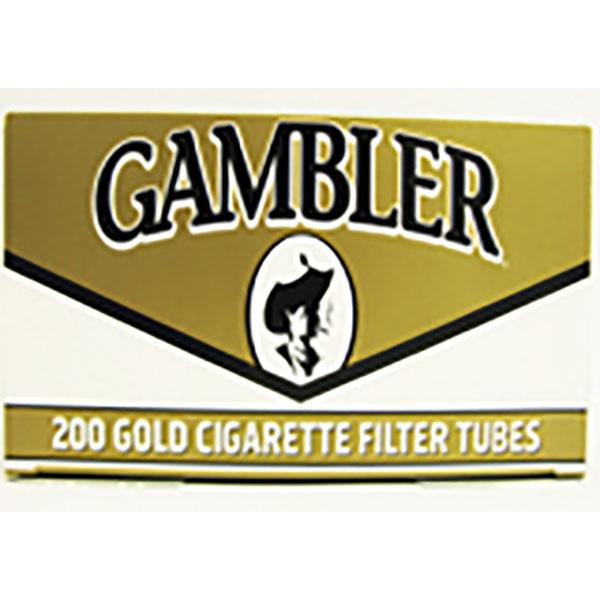 GAMBLER CIG. FILTER TUBES 200'S *KING-GOLD*