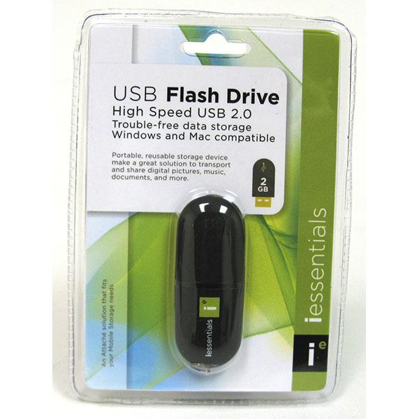 I ESSENTIALS 2GB USB FLASH DRIVE