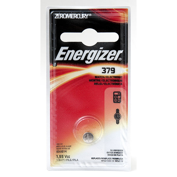 ENERGIZER WATCH BATTERY *379/SR726SW* #379BPZ