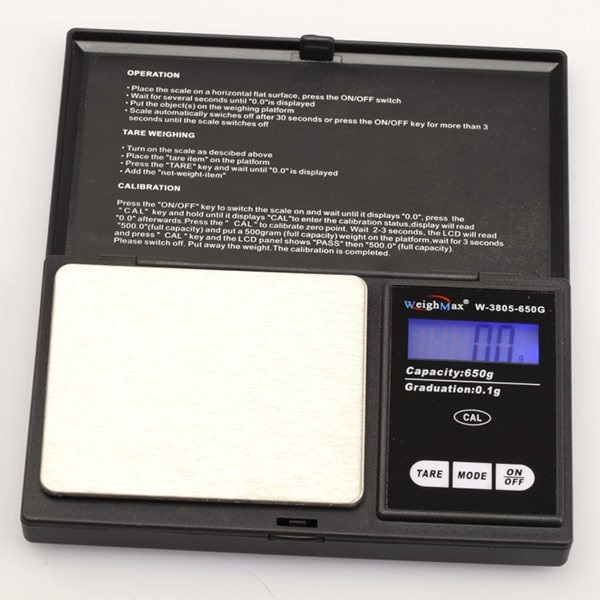 DIGITAL POCKET SCALE 100G X 0.01G *W-3805-100-BLACK*