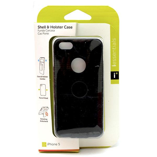 PHONE CASE I-PHONE 5 SHELL & HOLSTER *BLACK* #IPH5-HC-BK