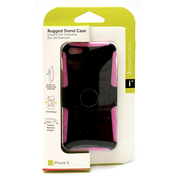 PHONE CASE I-PHONE 5 RUGGED STAND *PINK* #IPH5-RGS-PK