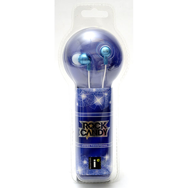 EARBUD ROCK CANDY *BLUE* #IE-BL