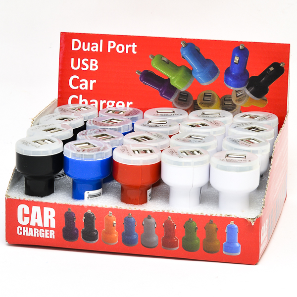 USB CHARGER *DUAL CAR* 20CT