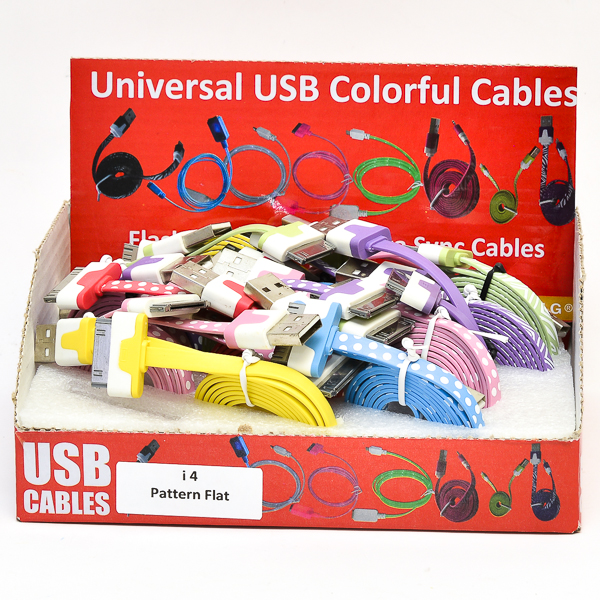 USB CABLE FLAT *IPOD/IPHONE*