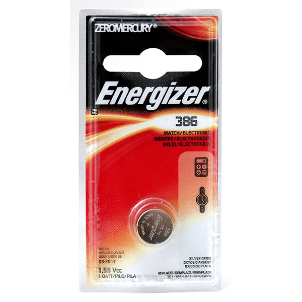 ENERGIZER WATCH BATTERY *386/SR43W* #386BPZ
