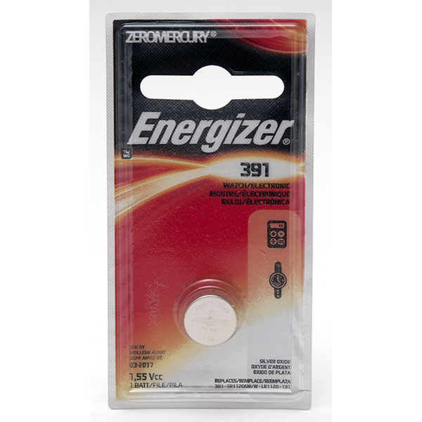 ENERGIZER WATCH BATTERY *391/SR1120W* #391BPZ
