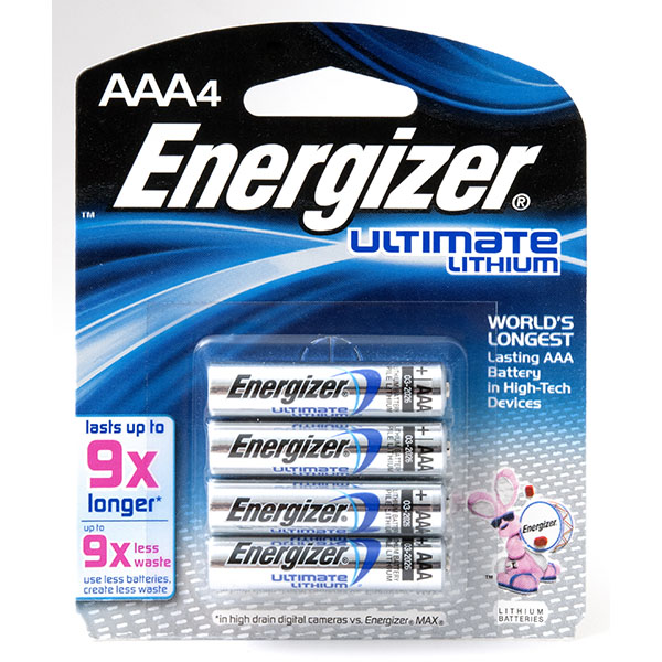 ENERGIZER ULTIMATE LITHIUM AAA 4'S #L92BP-4
