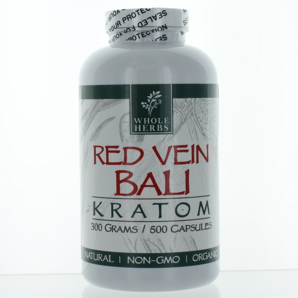 WHOLE HERBS KRATOM CAPS BTL.*RED VEIN BALI* 500'S