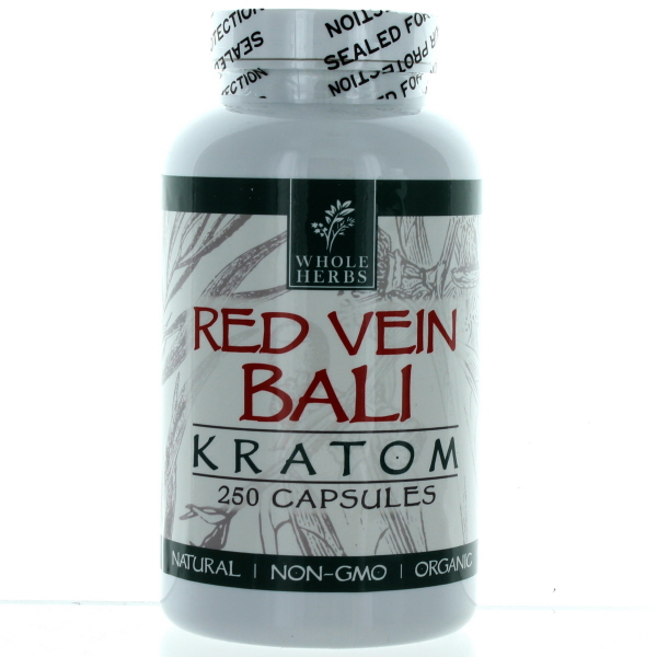 WHOLE HERBS KRATOM CAPS BTL.*RED VEIN BALI* 250'S