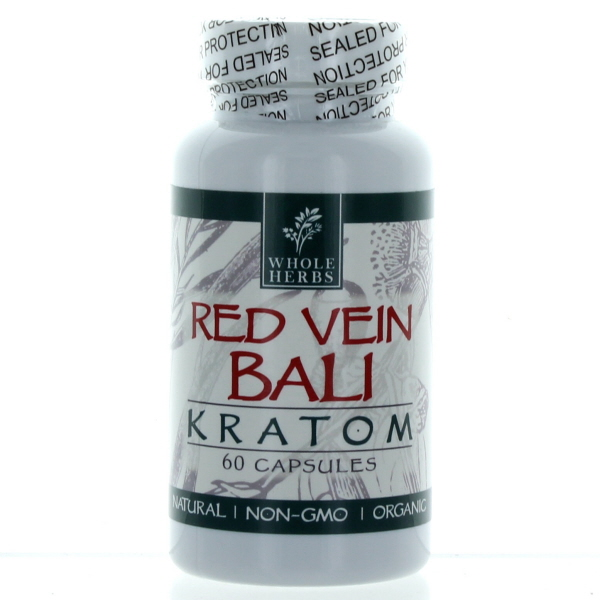 WHOLE HERBS KRATOM CAPS BTL.*RED VEIN BALI* 060'S