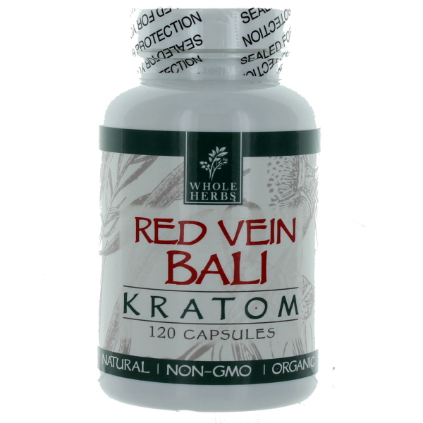 WHOLE HERBS KRATOM CAPS BTL.*RED VEIN BALI* 120'S