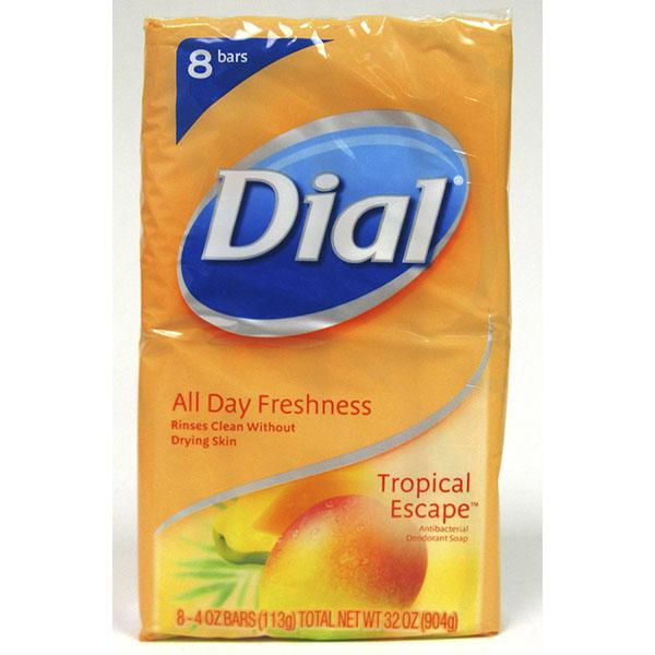 DIAL SOAP BAR 4OZ 8CT *TROPICAL ESCAPE*