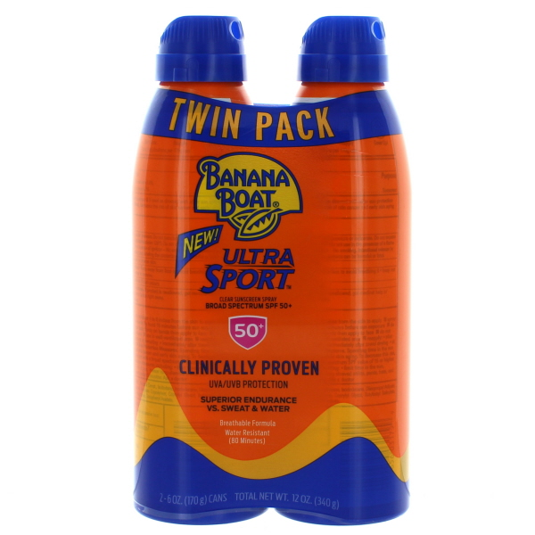 BANANA BOAT SUNBLOCK 6FL.OZ SPRAY *SPORT SPF50* 2PK