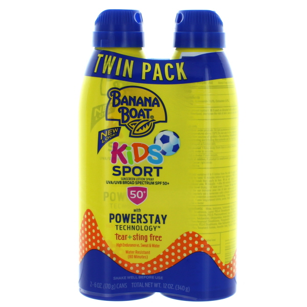 BANANA BOAT SUNBLOCK 6FL.OZ KIDS SPRAY *SPF50* 2PK