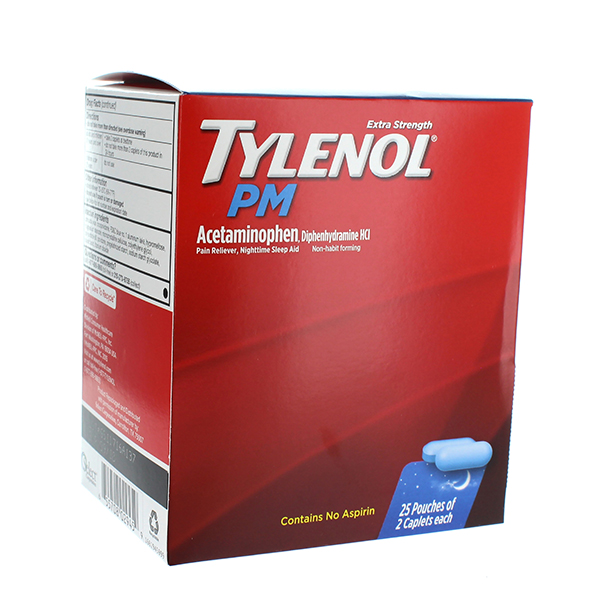 TYLENOL PM POUCH 2'S 25CT