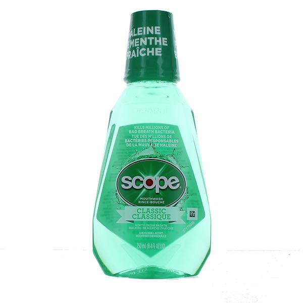 SCOPE MOUTHWASH 250ML *CLASSIC ORIG. MINT*