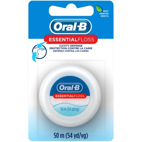 ORAL-B ESSENTIAL FLOSS 55YD *MINT WAXED*