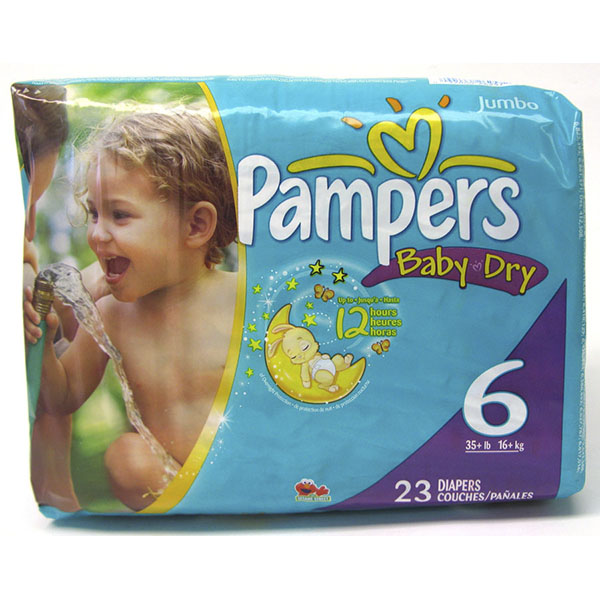 PAMPERS BABY DRY DIAPERS #6 23'S