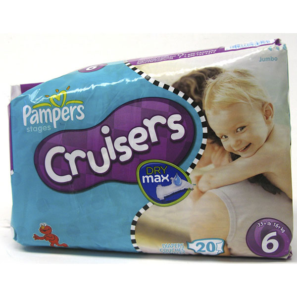 PAMPERS CRUISERS DRY MAX DIAPER #6 20'S