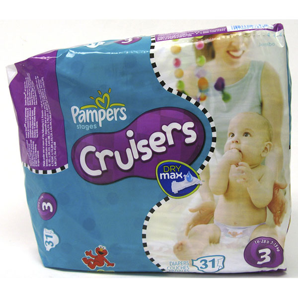 PAMPERS CRUISERS DRY MAX DIAPER #3 31'S