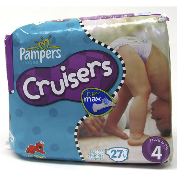 PAMPERS CRUISERS DRY MAX DIAPER #4 27'S