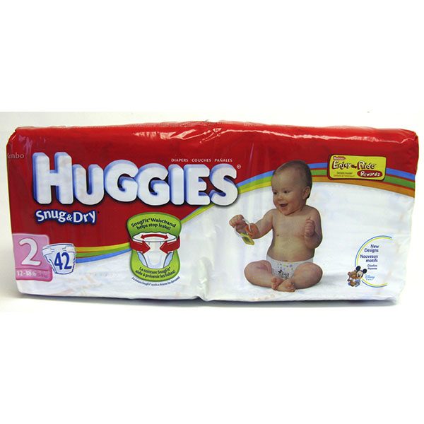 HUGGIES SNUG & DRY DIAPERS #2 42'S