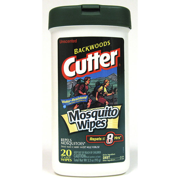 CUTTER INSECT REPELLENT WIPES 20'S *BACKWOODS*