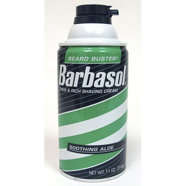 BARBASOL SHAVE CREAM 10OZ *SOOTHING ALOE*