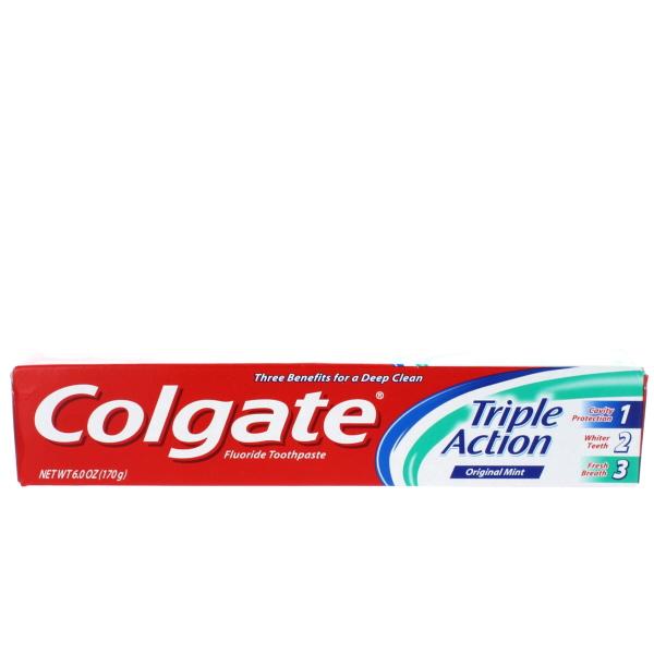 COLGATE TOOTHPASTE 6OZ *TRIPLE ACTION.*