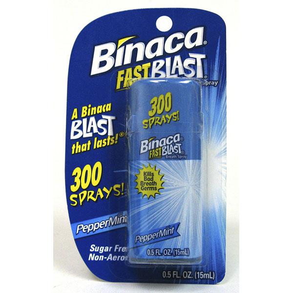 BINACA BREATH FRESHENER PUMP 0.5FL.OZ *PEPPERMINT*