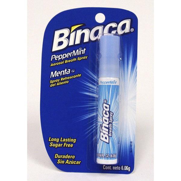 BINACA BREATH FRESHENER AEROSOL 0.2OZ *PEPPERMINT*