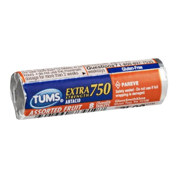 TUMS ANTACID EX 750 8'S *ASST. FRUIT*