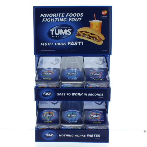 TUMS ANTACID EX/REG 6X12CT 72CT DS.