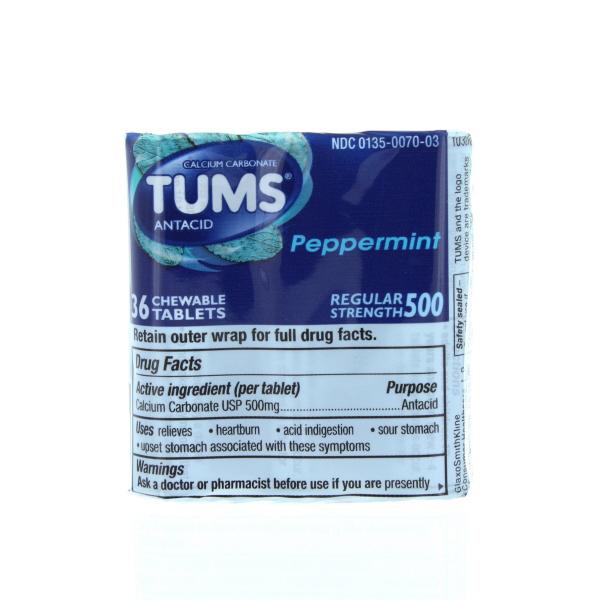 TUMS ANTACID 3PK. REG. 12'S *PEPPERMINT*