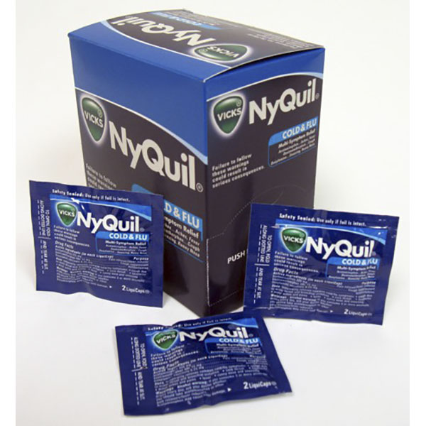 VICKS NYQUIL SEVER LIQUICAP POUCH 2'S 25CT