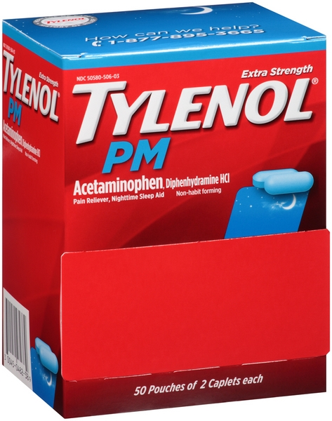 TYLENOL PM POUCH 2'S 50CT