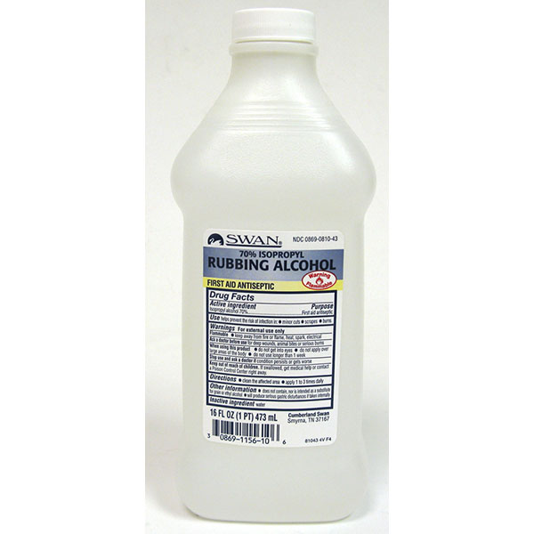 SWAN RUBBING ALCOHOL 70% 16FL.OZ