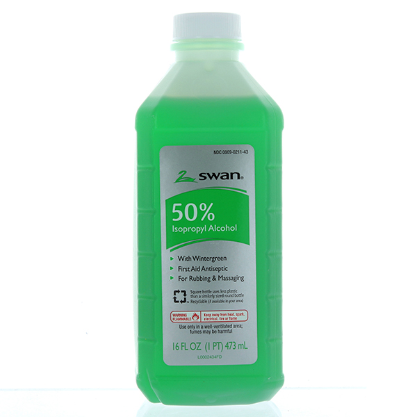 SWAN RUBBING ALCOHOL 50% 16FL.OZ *WINTERGREEN*
