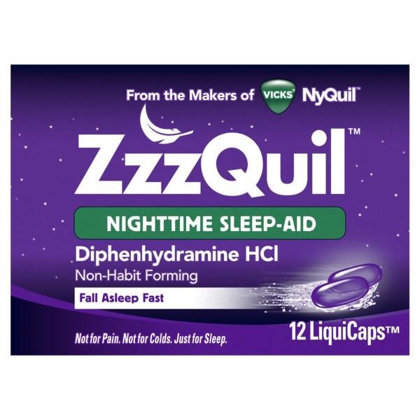 VICKS ZZZQUIL SLEEP-AID 12'S *LIQUICAPS*