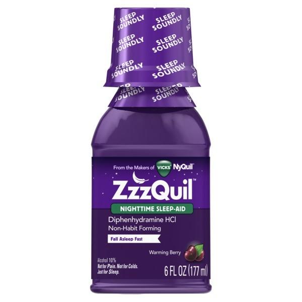 VICKS ZZZQUIL SLEEP-AID LIQUID 6FL.OZ
